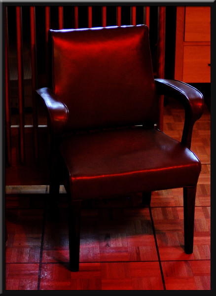 Chair with Red Light on it.