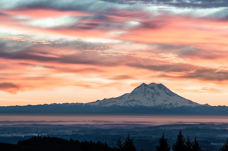Rainier at Sunrise