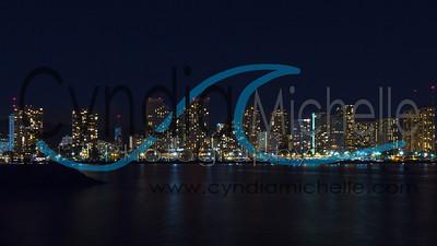 Waikiki Night Cityscape