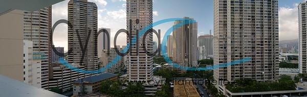 Waikiki Towards Downtown Cityscape
