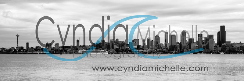 Seattle Cityscape Black & White