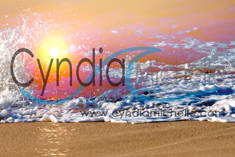 North Shore Sunset 2 (Seascape, sun & wave)