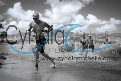 NSSS - 1st Laniakea to Pua'ena race. Jakob Dewald at the finish line on July 26, 2014