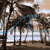 "Photographed on January 4, 2015 - ""Kaimana Beach - A New Year"" / Black and white split-tone"