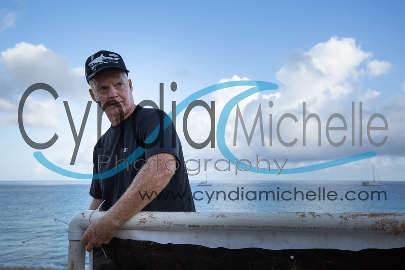 Andy . . . setting up for North Shore Swim Series on June 27, 2015