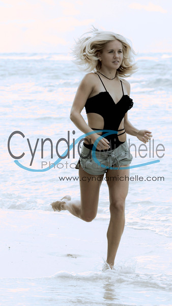 Elite Runner Polina, Beach Portrait