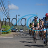 Cyclists riding through Noth Shore Oahu during the Dick Evans Memorial Bike Race on September 1, 2013.