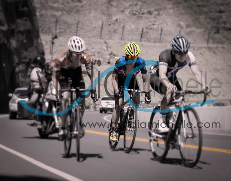 Making the last climb towards the finish line during the Dick Evan Memorial Road Race on August 31, 2014