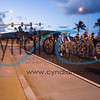 Cyclists riding through Hawaii Kai during the Dick Evans Memorial Bike Race on September 1, 2013.