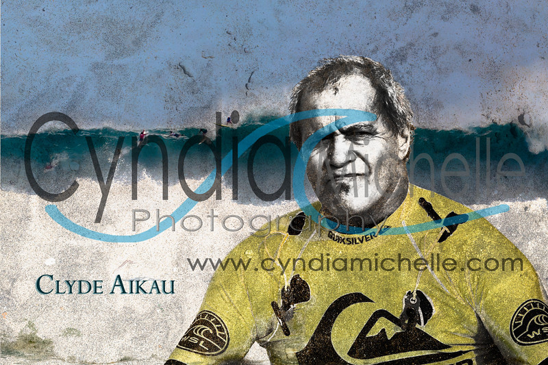 Clyde Aikau during The Quicksilver in Memory of Eddie Aikau big wave surf contest on February 25, 2016