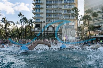 Jonathan Leopold from San Francisco, CA - Waikiki Roughwater Swim on September 5, 2016.