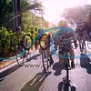 Cycling near Diamond Head in Waikiki