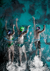 Competitive Swimmers near Makapu'u