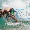 Ka'eo Milles skimboarding Sandy's on the South Shore of Oahu, Hawaii on April 25, 2014