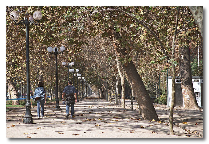 Labour Day in Santiago, Chile. Everyone's staying at home!!