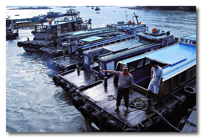 You can take my boat!! Pulau Ubin.
