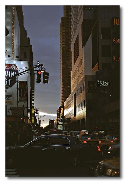 Evening, somewhere in New York, USA.