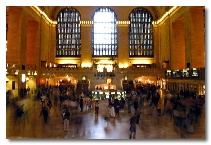 Rush hour at Grand Central Station, New York, USA. Seems like it's always rush hour all the time!!