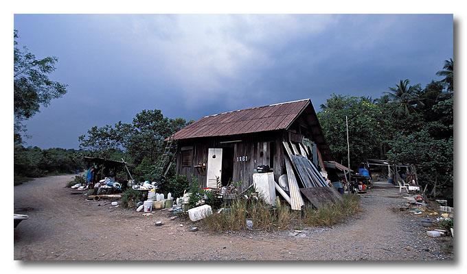A prawn farm, house 1261. Pulau Ubin.
