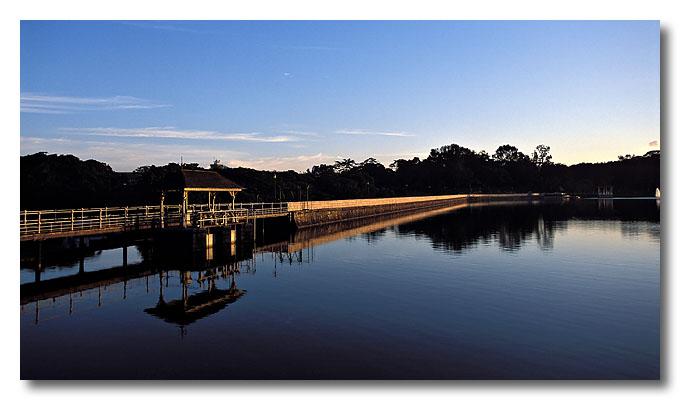 Sluice gate of MacRitchie Reservoir.