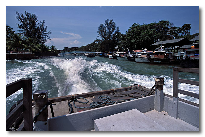 On my way to Pulua Ubin again. =P