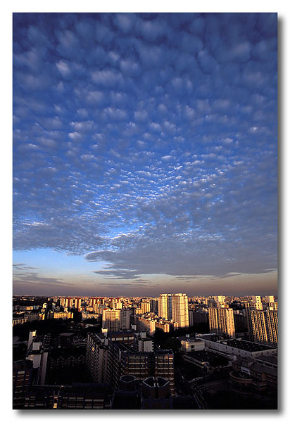 Small puffy clouds. Toa Payoh.