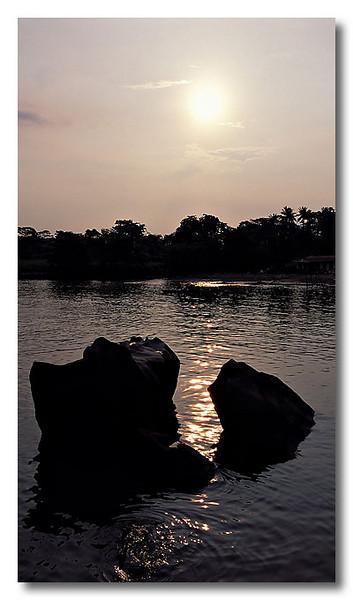 Sunset and silhouette. Pulau Ubin.