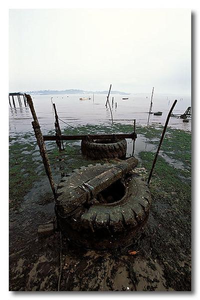 Some weird contraption off Kampong Melayu. Pulau Ubin.