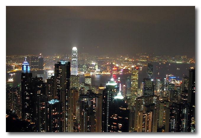 View from Victoria Peak, Hong Kong.