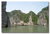 Magnificent cliffs of Halong Bay, Vietnam.