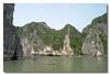 Magnificent cliffs of Halong Bay, Vietnam.
