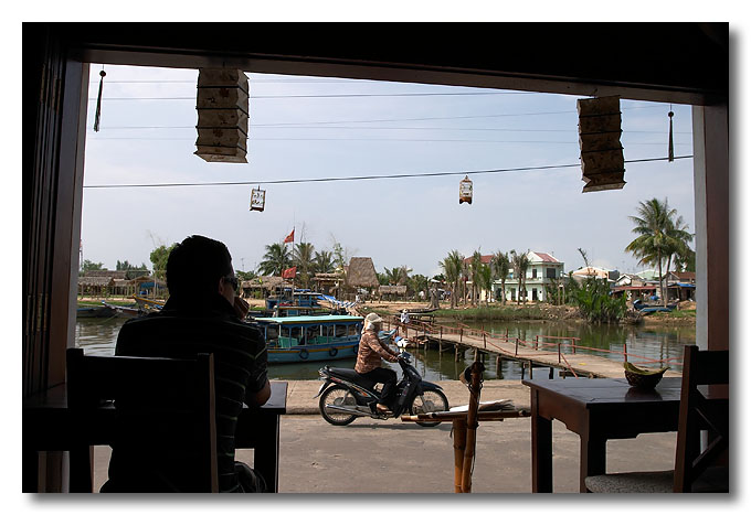 Chilling out by the river. Hoi An, Vietnam.