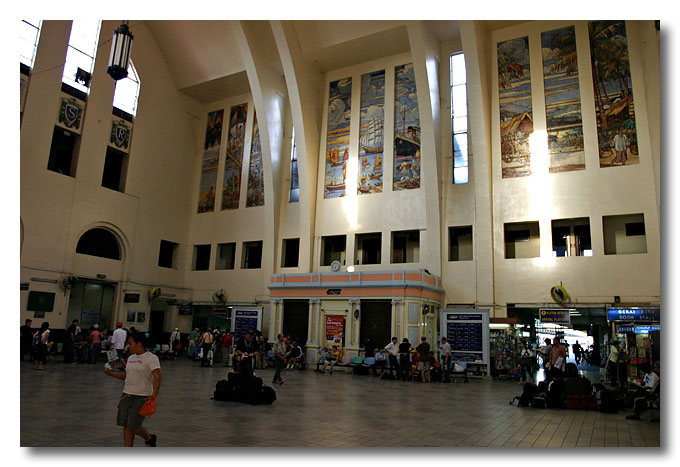 Interior of Tanjong Pagar Railway Station.
