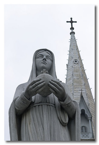 Virgin Mary, Notre Dame Cathedral, Ho Chi Minh City (Saigon), Vietnam.