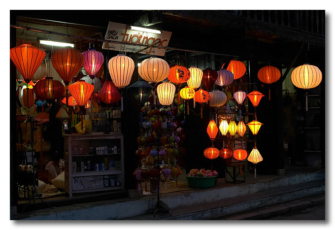 Colourful lanterns are what Hoi An is famous for. Vietnam.