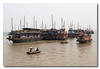 The type of boat that we took to cruise around Halong Bay. Vietnam.