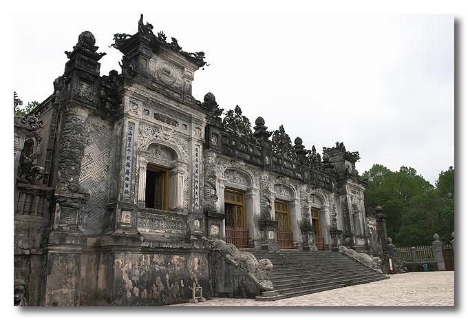 The main building of Khai Dinh's tomb, Thien Dinh. Hue, Vietnam.