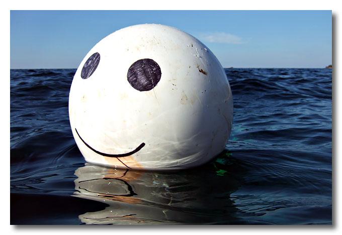 A smiley buoy off Telok Jawa, Dayang, Malaysia.