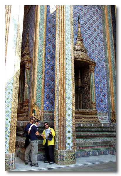 Vivid descriptions from a guide. Bangkok, Thailand.