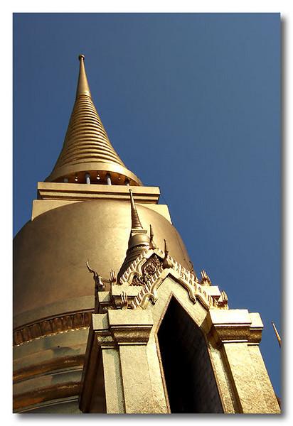 A golden temple, Bangkok, Thailand.