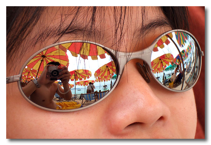 Resting on a beach.  Phuket.