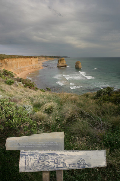 Vertical pano of 12 Apostles, Great Ocean Road. Victoria.