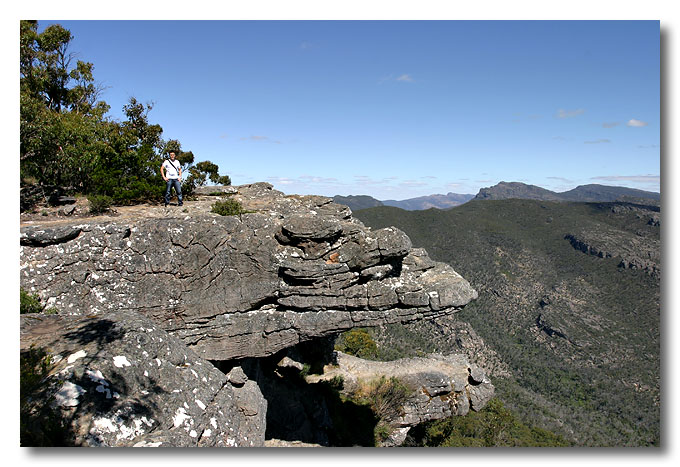 The Balconies (formerly known as the 'Jaws of Death'). Grampians National Park, Victoria.  Can you see me?