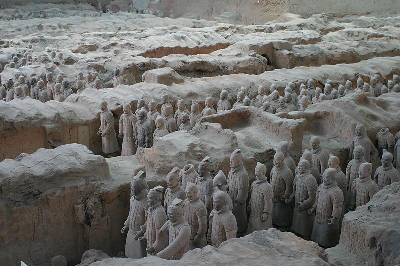 Columns of warriors.  Xi'an, China.