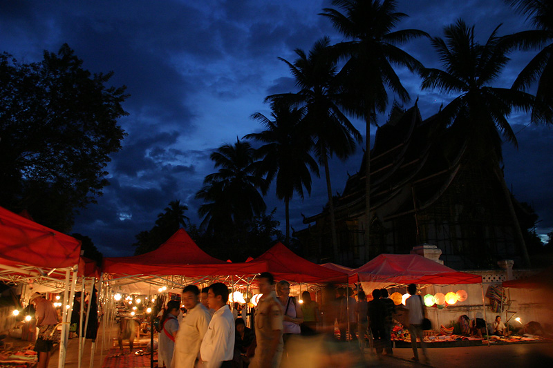 Night market. Luang Prabang, Laos.
