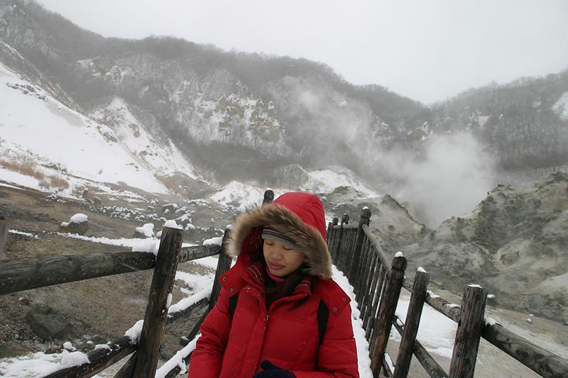 "And back.  Jigokudani or ""Hell Valley"""