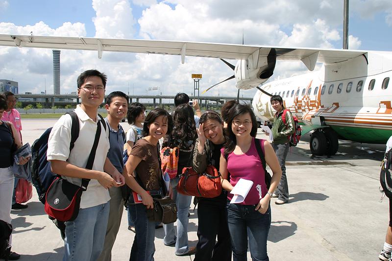 Laos here we come!  Transit at Bangkok.