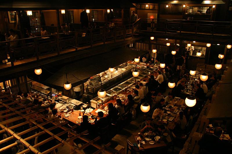 """Dinner at the """"Kill Bill"""" restaurant."""