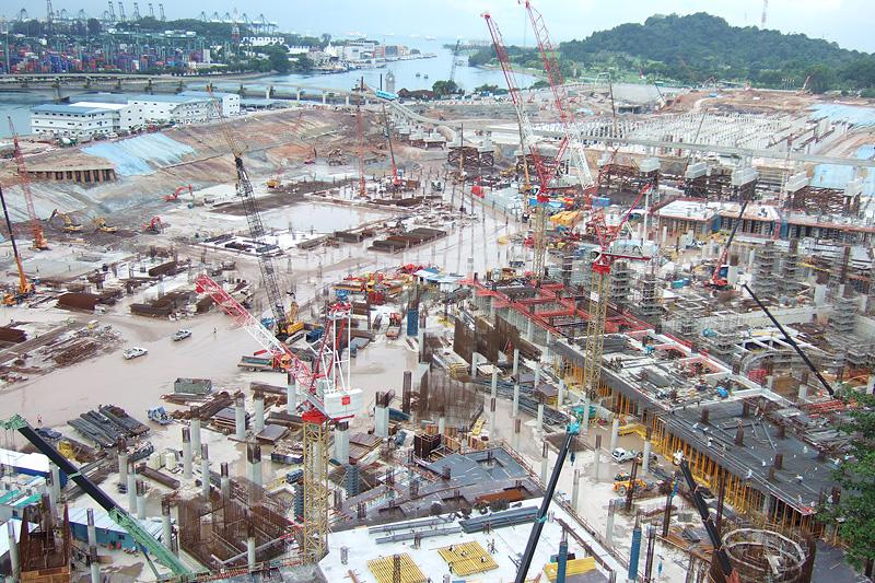 IR construction at Sentosa.