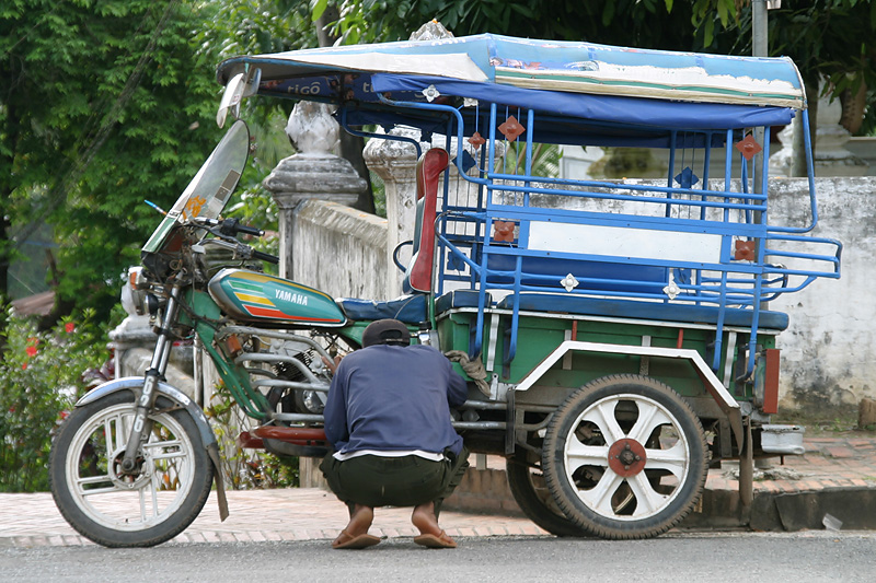 """What's wrong with my bike?"" Luang Prabang, Laos."